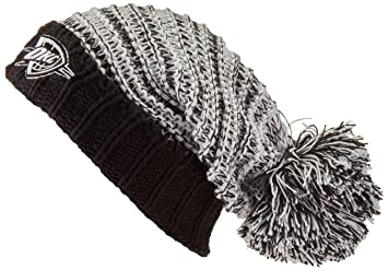 new styles 87978 301a0 Image Unavailable. Image not available for. Colour  NBA Oklahoma City  Thunder Female Sansa OTS Cuff Knit Cap, Black, Women s
