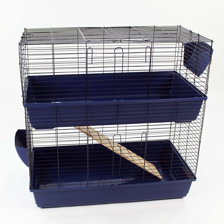Easipet Un enclos/cage pour Lapin (intérieure) disponible en Bleu, Rose, et Noir (Rose)