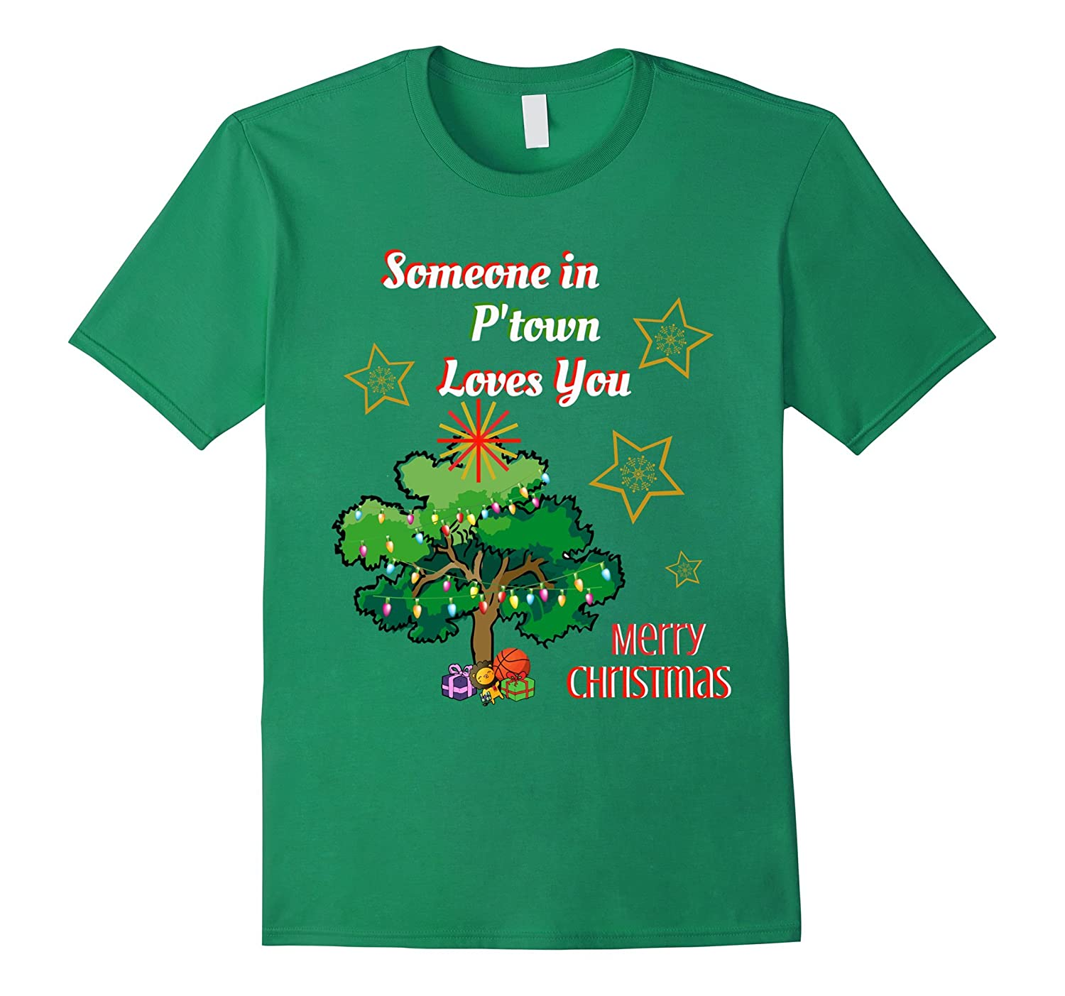 Someone in P'Town Loves You Novelty Christmas T-Shirt-ANZ