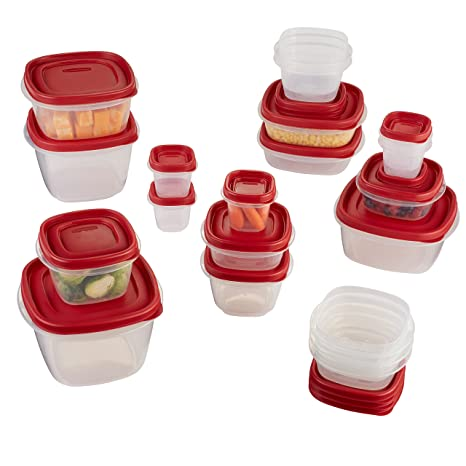 Rubbermaid Easy Find Lids Food Storage Containers Racer Red 40-Piece Set 1777169  sc 1 st  Amazon.com & Amazon.com: Rubbermaid Easy Find Lids Food Storage Containers Racer ...