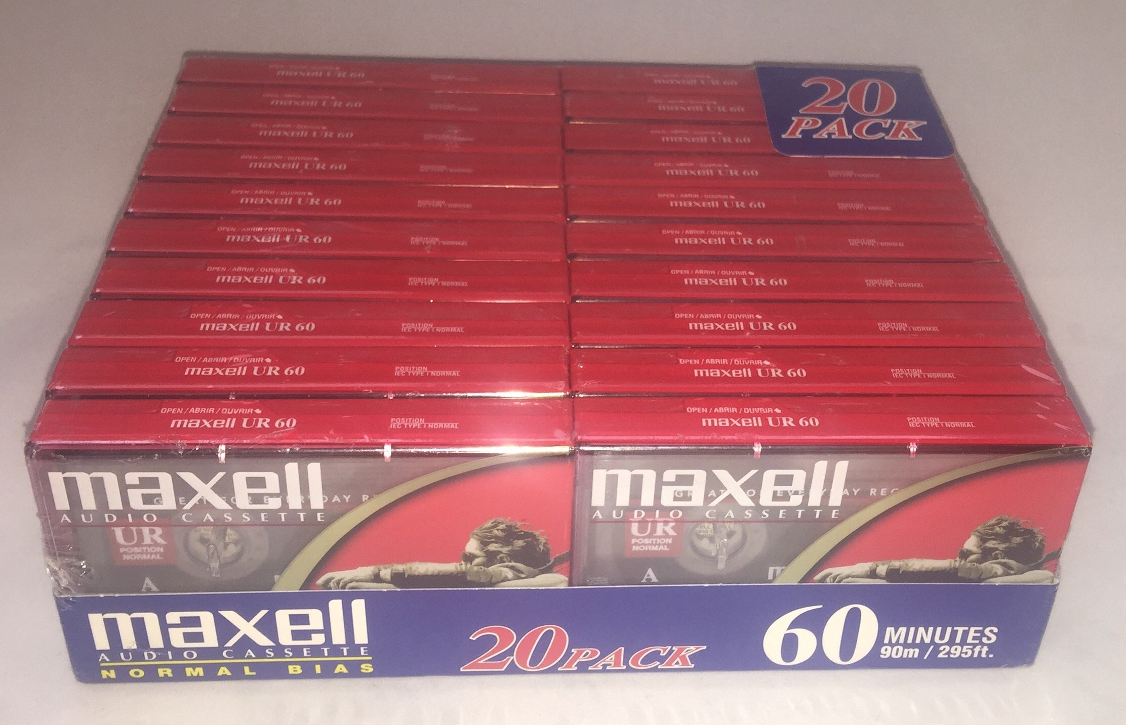 Maxell Audio Cassette UR 60 20 pack by Maxell