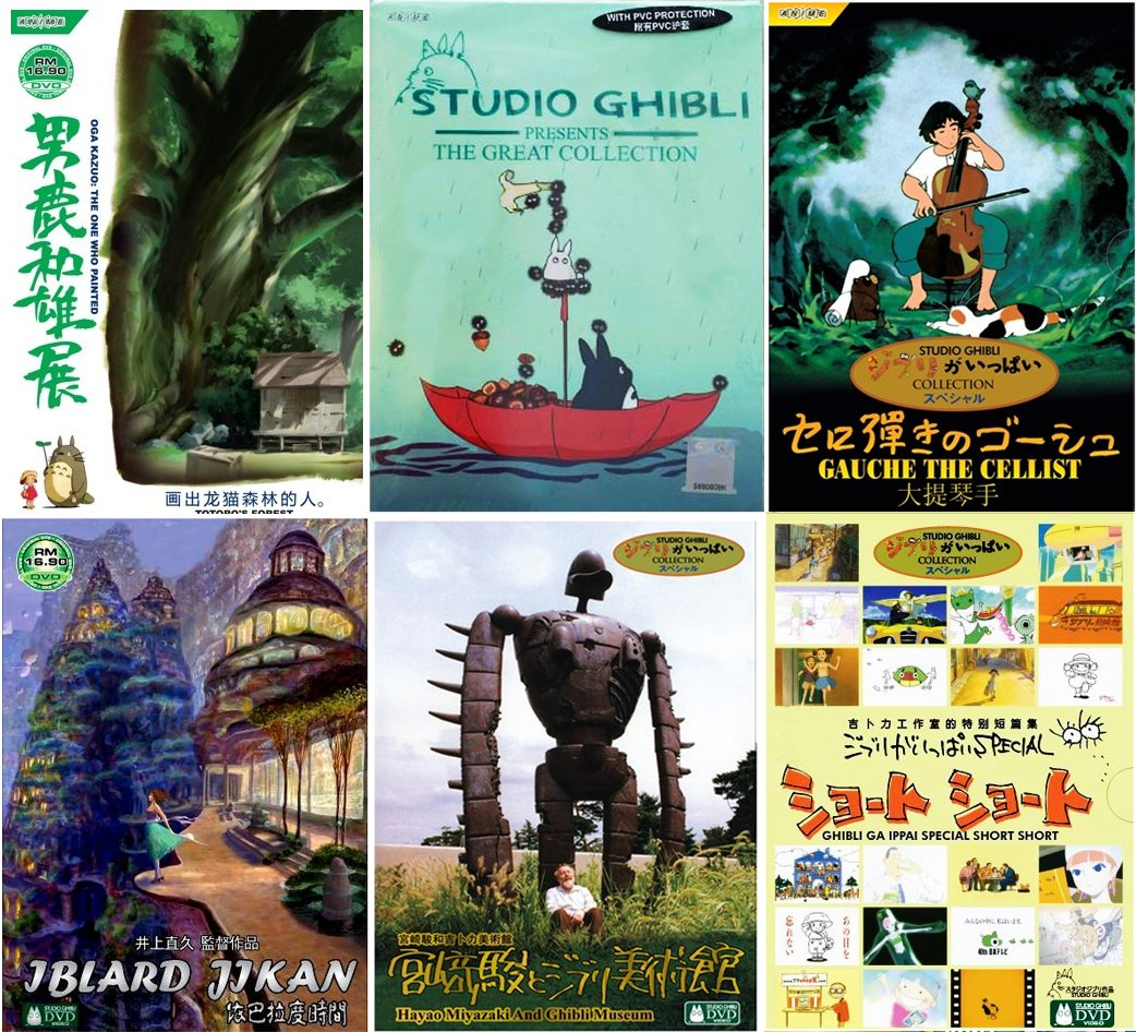 Studio Ghibli 20 Movie 23 Short Films & Museum Tours (Import Collection)