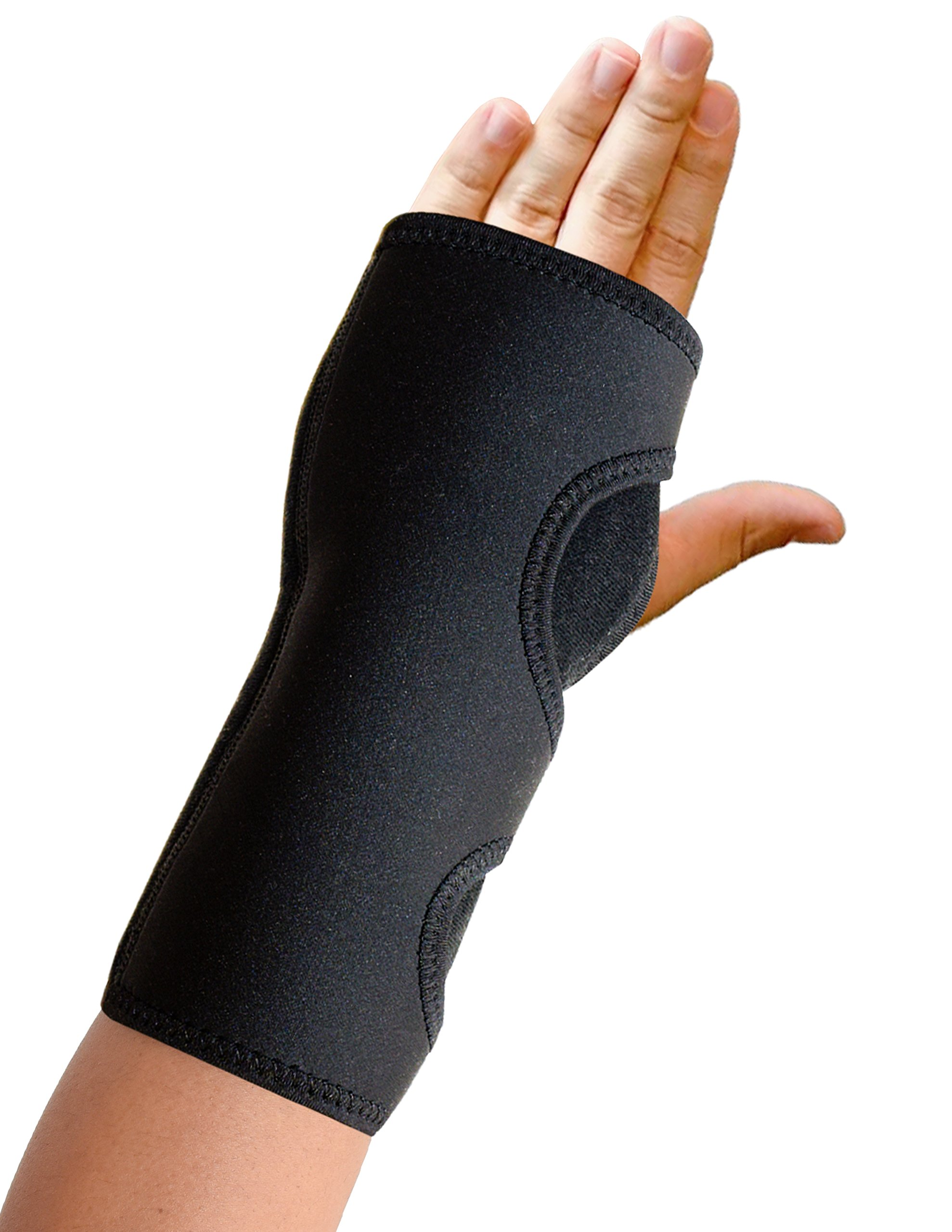 Night Wrist Sleep Support Brace Wrist Splint - Fits Both Hands - Cushioned to Help with Carpal Tunnel and Relieve and Treat Wrist Pain,Adjustable, Fitted