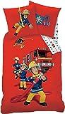 SAM LE POMPIER - Housse de Couette (140x200) + Taie d'Oreiller (63x63) - Parure de lit - Fireman Sam