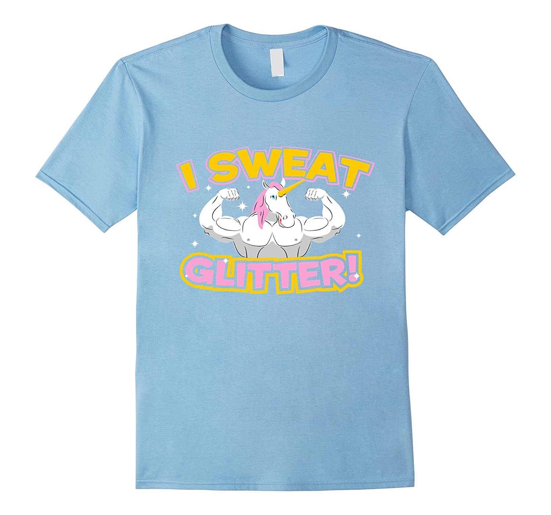 f2daad7d0 I Sweat Glitter Unicorn T-Shirt - Unicorn Muscle Gym Shirt-TH - TEEHELEN