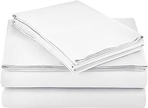 AmazonBasics Lightweight Super Soft Easy Care Microfiber Sheet Set with 16