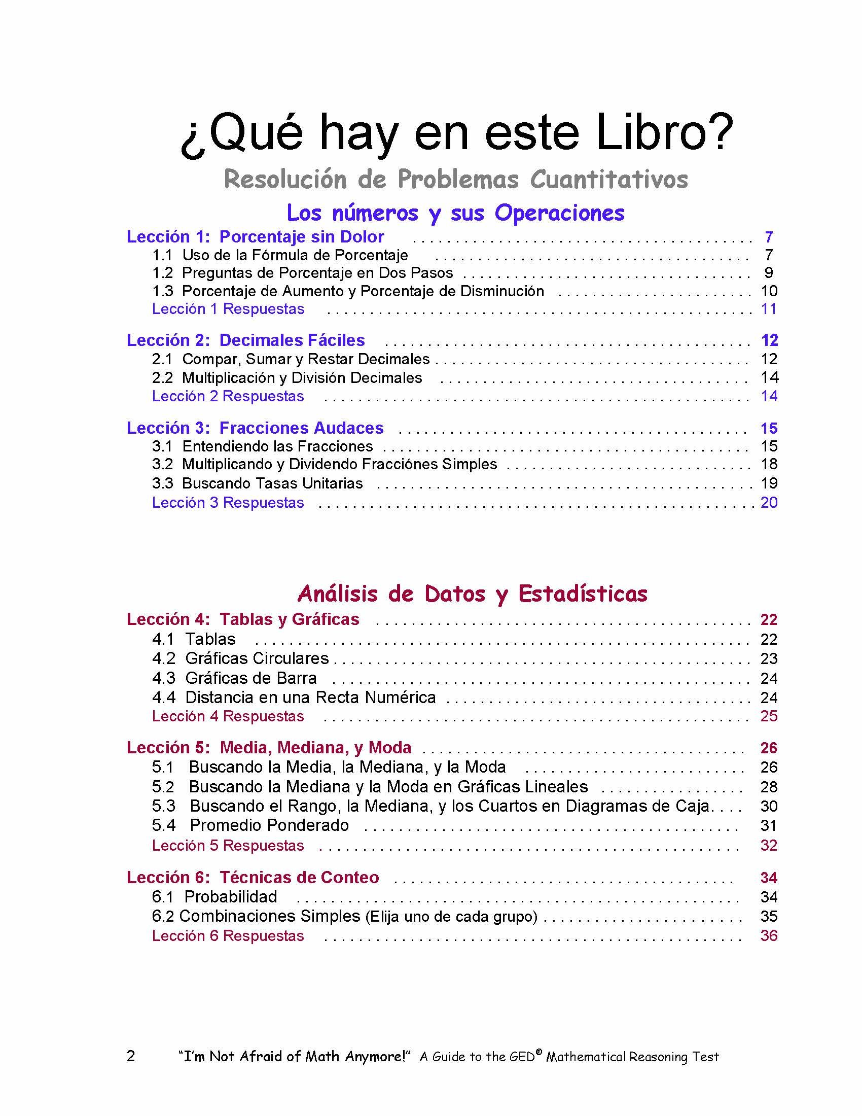 Leccion 4 ebook 80 off choice image free ebooks and more im not afraid of math anymore spanish edition no le temer im not afraid of math fandeluxe Images