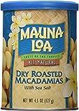 Mauna Loa Dry Roasted Macadamias With Sea Salt, 4.5-Ounce Cans (Pack of 6)