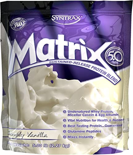 Syntrax – Matrix 5.0 Simply Vanilla, 5 lb powder