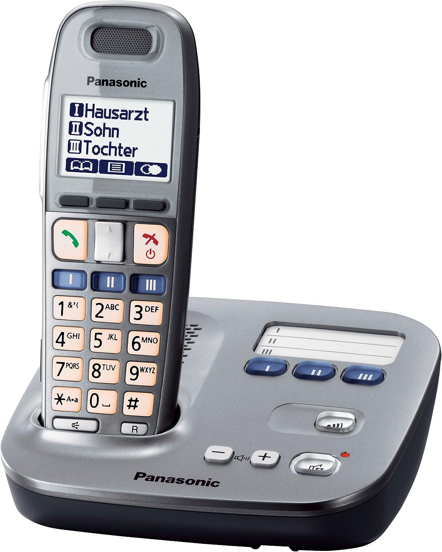 Panasonic KX-TG6571 - Teléfono VOIP, gris [versión importada]: Amazon.es: Electrónica