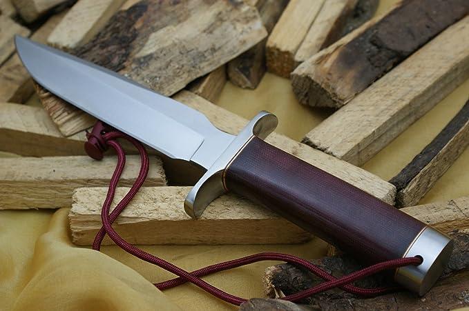 Knife King Cuchillo de Caza de Acero D2, Modelo 1, Hecho a ...