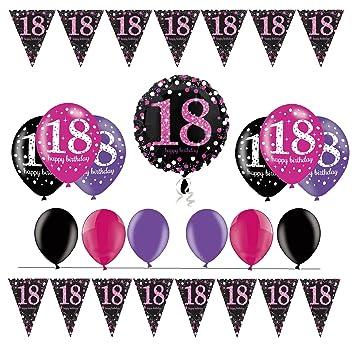celebran fijo para 18 cumpleaños I 14 piezas Globo ...