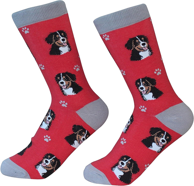 2 Pairs Foozys Womens Dog Breed Socks Bernese Mountain Dog Canine Foozys
