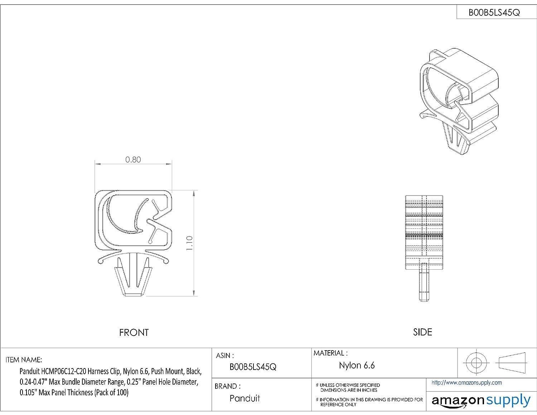 amazon panduit hcmp06c12 c20 harness clip push mount nylon Engine Wiring Harness amazon panduit hcmp06c12 c20 harness clip push mount nylon 6 6 24 47 inch bundle black 100 pack industrial scientific