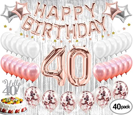 20th Birthday Decorations Party Supplies20th Balloons Rose GoldRose Gold Hang Happy Alphabet