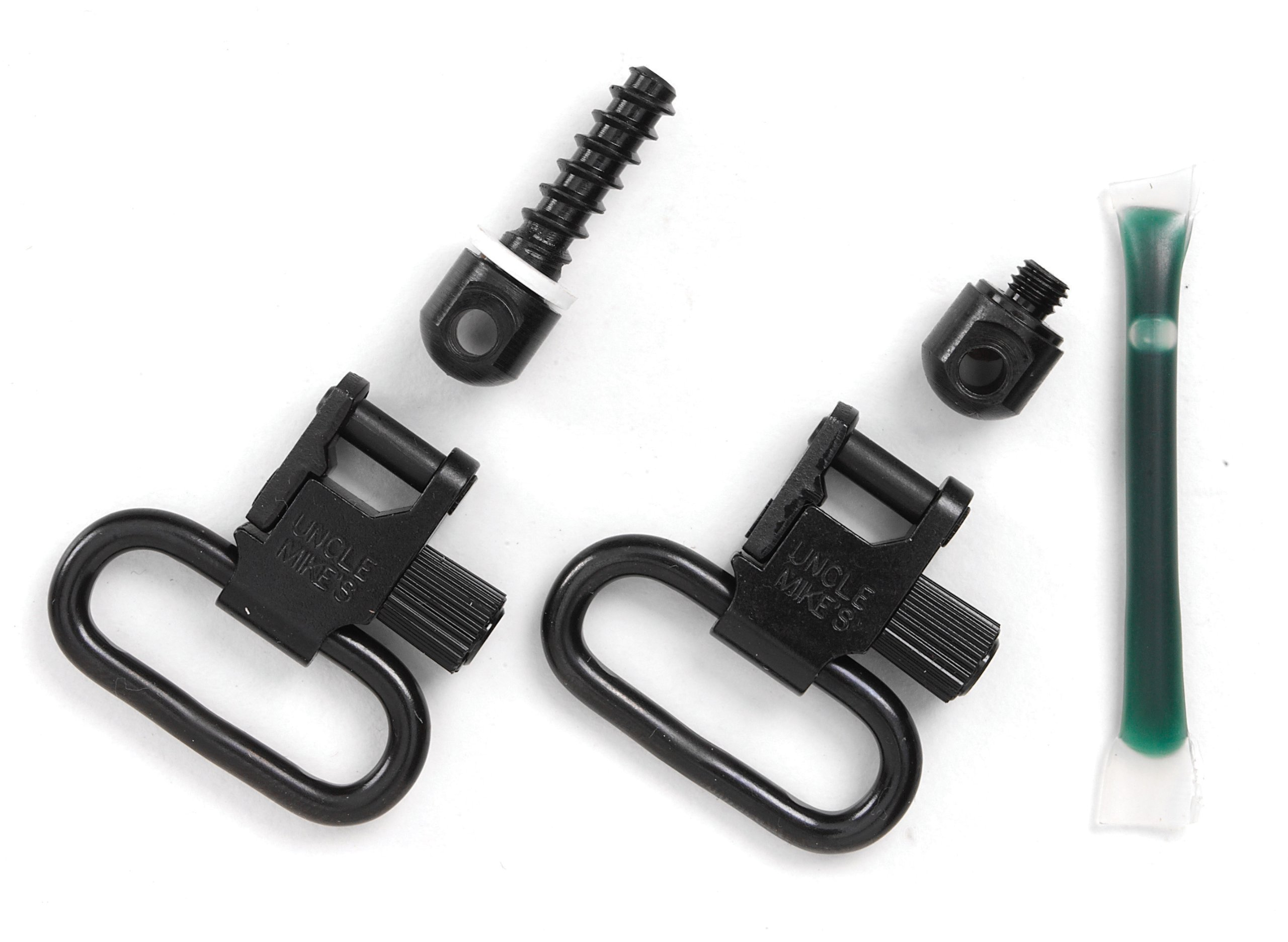Uncle Mike's Quick Detachable Fore End Band Style Sling Swivels (Blued, 1-Inch Loop) by Uncle Mike's (Image #1)