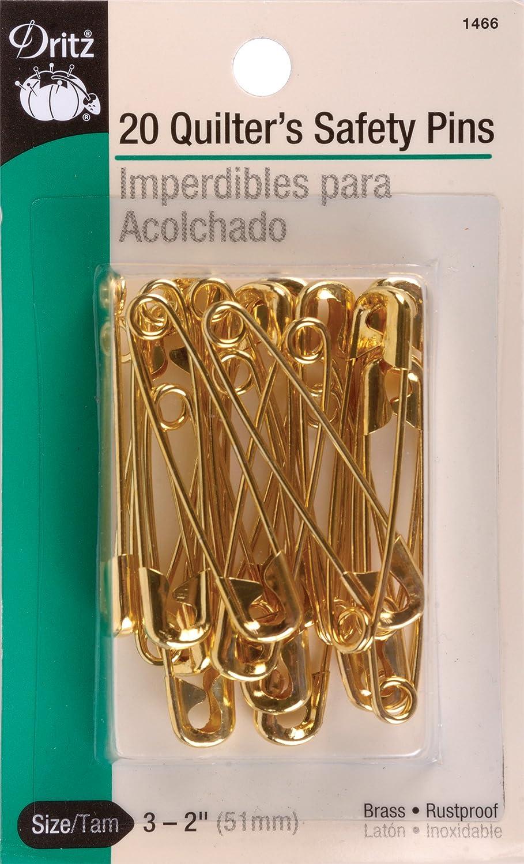 Brass Dritz 72-10-35 Safety Pins 15-Count Size 0