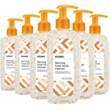 Amazon Brand - Solimo Morning Fresh Facial Cleanser with Ginseng and Vitamin C, 8 Fluid Ounce (Pack of 6)