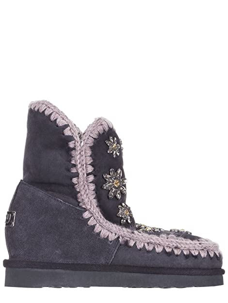 32be971b099 Mou - Botas de ante para mujer Gris donna Gris Size  38  Amazon.es  Zapatos  y complementos