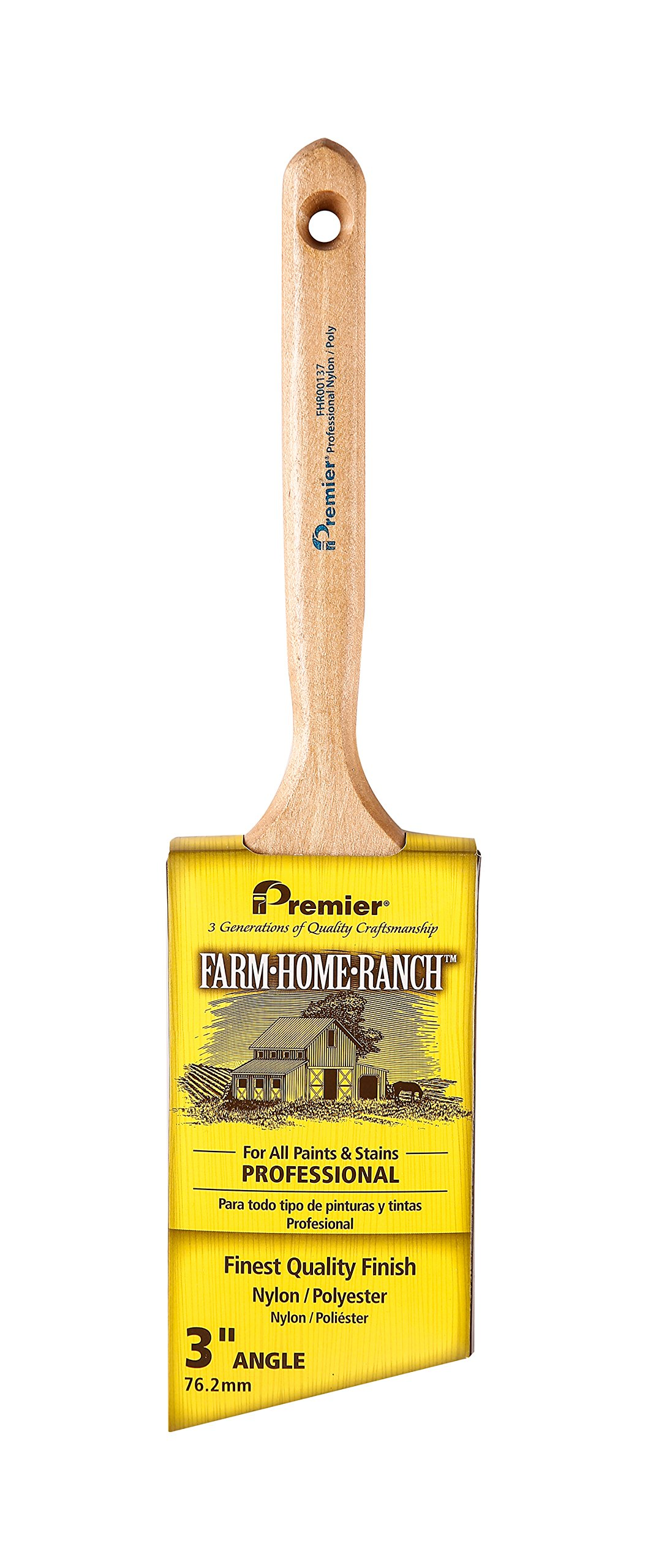 Premier 3'' Angle Sash Brush with Beavertail Wood Handle, Farm-Home-Ranch, FHR00137