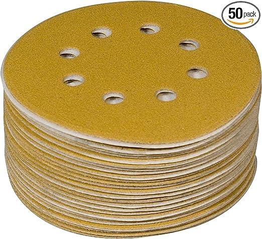 100 Sanding Discs Sandpaper Hook and Loop Pads For Circular Sander Grits 10 Size