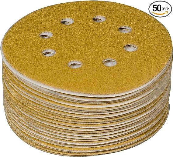 20 X SANDING DISCS 120 GRIT HOOK /& LOOP 125mm  8 HOLE