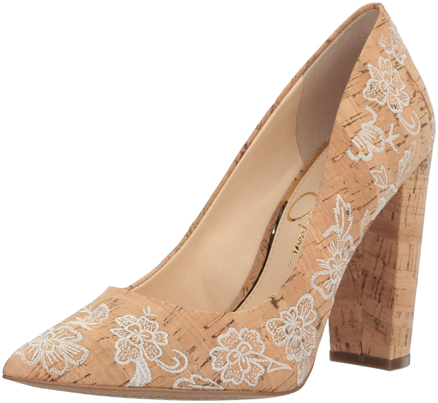 Jessica Simpson Women's Tanysha Dress Pump B01N7IAX8D 9.5 B(M) US|Natural Cream