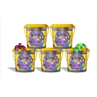 Skoodle Modeling Dough (Each Shade 25 gm)| 6 Shades | Non-Toxic | Child Safe | Total Weight 150 gm (Pack of 5)