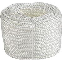 Polypropyleen touw │ wit │ 1 stuk │ 20 m lang, 3 mm dik │ 16-voudig gevlochten │ gebreid │ multifunctioneel touw…