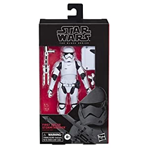 """Star Wars The Black Series First Order Stormtrooper Toy 6"""" Scale The Last Jedi Collectible Action Figure, 4 & Up"""