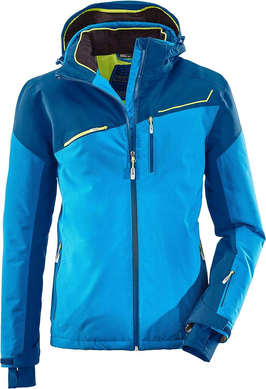 atmungsaktiv killtec Skijacke Herren Den Snowboardjacke Herren mit Schneefang wasserdichte Jacke mit Skipasstasche