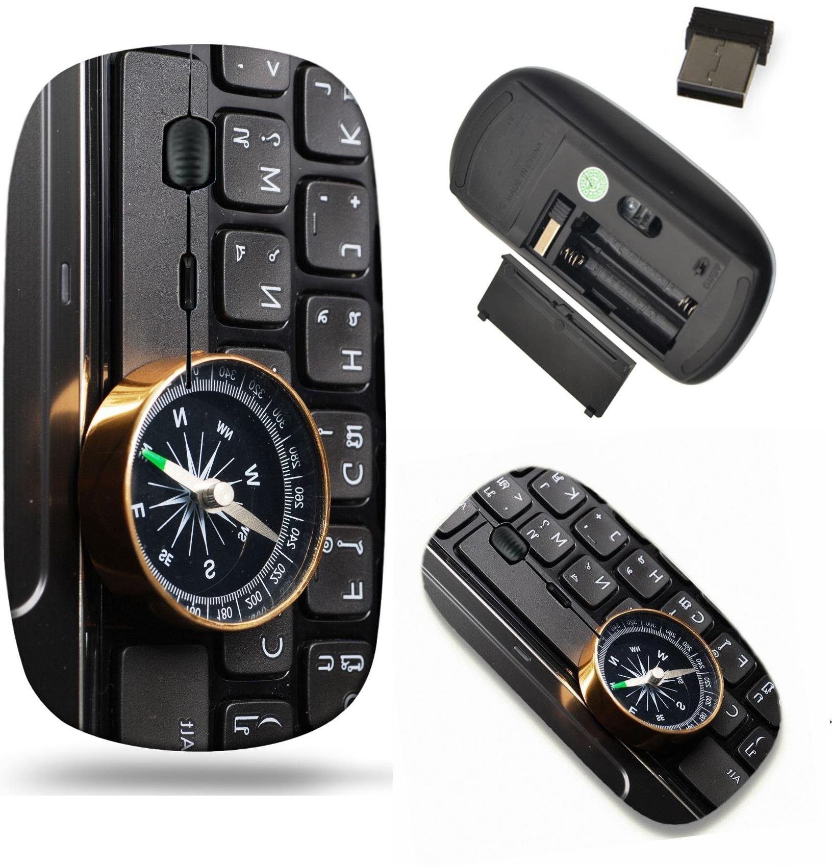 Liili Wireless Mouse Travel 2.4G Wireless Mice with USB Receiver, Click with 1000 DPI for notebook, pc, laptop, computer, mac book compass on computer keyboard business decision I