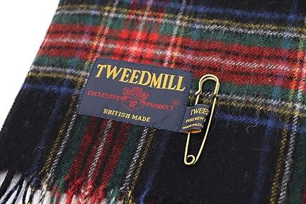 Tweedmill Lambswool Scarf: Black Stewart