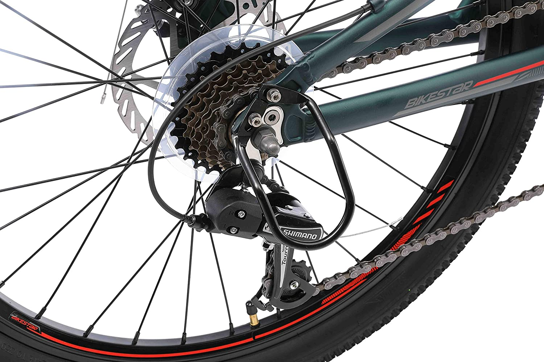 24 Zoll Kinderrad Vollgefedert MTB Scheibenbremse ab 9-14 Jahre RISIKOFREI TESTEN BIKESTAR Kinder Fahrrad Aluminium Fully Mountainbike 21 Gang Shimano