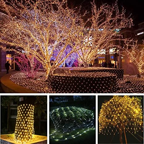 Charming LED Net Lights Fairy String Lights Outdoor Party Christmas Xmas Wedding  Home Garden Decorations Net Mesh