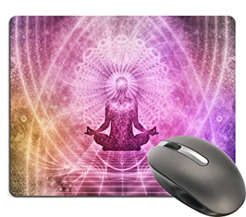 Yoga Lotus Pose Padma Sana - with Abstract Purple Mandala ...