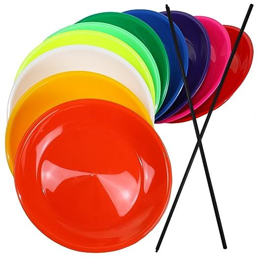 8 opinioni per 3 Piatti da giocoliere colorati con bacchetta in legno SchwabMarken