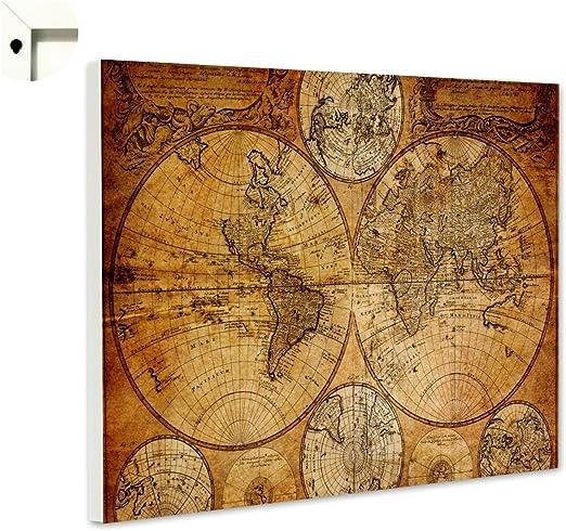 B-wie-Bilder.de Pizarra magnética tablón Memo Tarjeta con Diseño Mapa del Mundo Globo Terráqueo Antiguo: Amazon.es: Juguetes y juegos