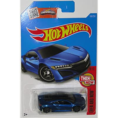 Hot Wheels 2016 Then and Now '17 Acura NSX 108/250, Blue: Toys & Games