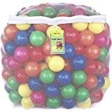Plastic Ball Pit Balls, Click N' Play 400 Pack, Phthalate and BPA Free, Includes a Reusable Storage Bag with Zipper, Great Gi