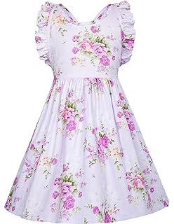 cd355f358 GRACE KARIN Vestido Vintage de Niñas Años 50 para Fiesta Cóctel Vestido  Algodón de Verano sin