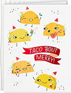 Hallmark Good Mail Boxed Christmas Cards (Christmas Tacos, 12 Cards with Envelopes)