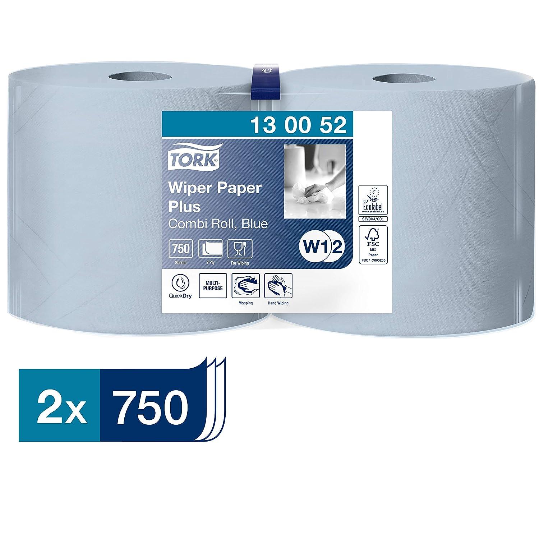 Tork 130052 Starke Mehrzweck Papiertücher Für W1 W2 Systeme 2 Lagiges Saugfähiges Papier In Blau 2 X 255m Gewerbe Industrie Wissenschaft