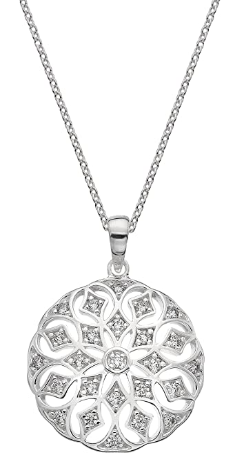 Dew Sterling Silver Round Necklace jWLe6F