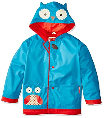 eb59daea0 Skip Hop Zoo Little Kid and Toddler Hooded Rain Jacket, Medium, Multi Otis  Owl