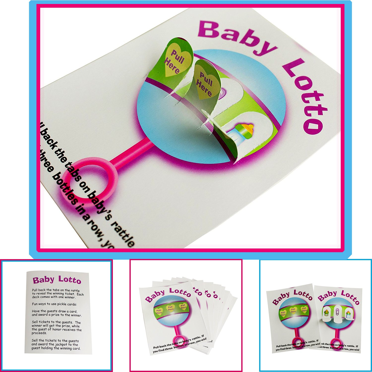Adorox Baby Shower Party Game (Pin the Bottle or Pacifier on the Baby) Poster (1pkg) (Pin the Bottle (1 pk)) ADX252_FBA