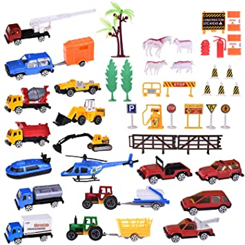 Amazoncom Construction Cars Diecast Racer Tow Truck Back To School - Car show goody bag stuffers