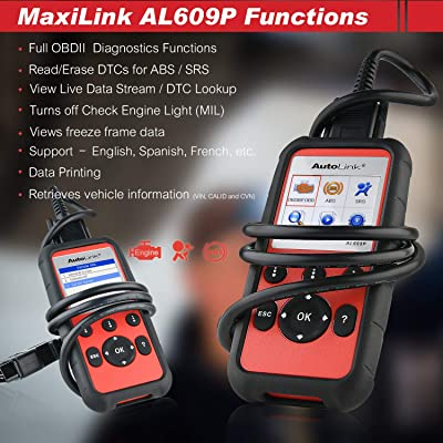 There are many functions that comes with the Autel 609P