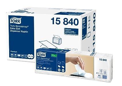 TORK Xpressnap - Servilletas de papel (5 paquetes de 100 servilletas, extrasuave),