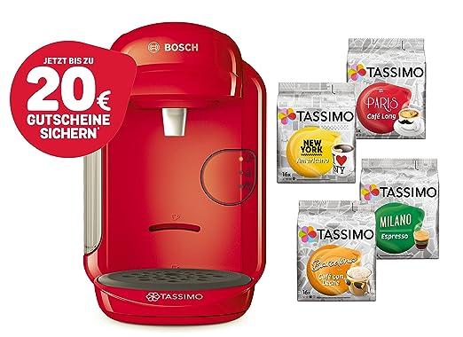 Bosch Tassimo Vivy 2 Cápsula eléctrica + 4 x T Discos de edición ...